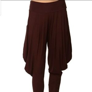 Pants - NEW S - XL Brown Harem Capri Pants